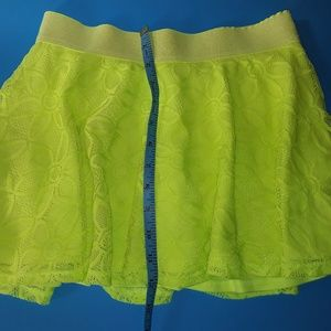 Justice Bottoms - Lime Green Yellow Justice Skort Skirt Short SZ 12